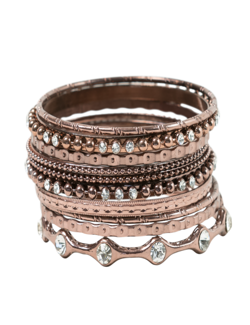 Copper Stacked Bangle Set
