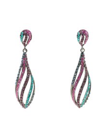 Multi Color Crystal Drop Earrings